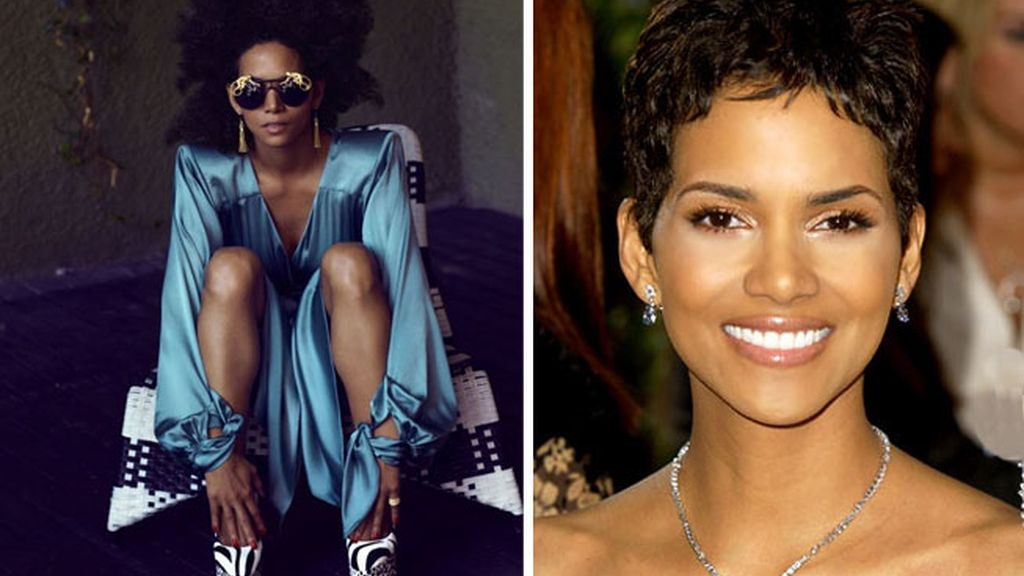 Halle Berry a lo afro salvaje