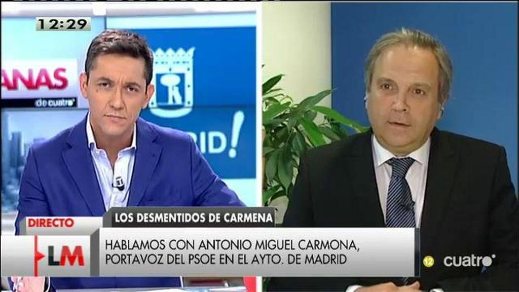 """Antonio Miguel Carmona, sobre la web 'Versión original': """"El PP quiere sacar tajada"""""""