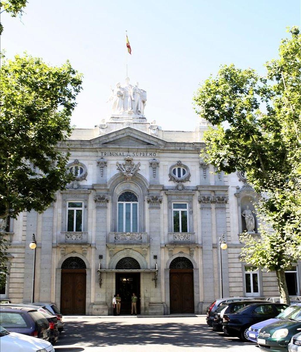 Fachada principal del Tribunal Supremo, en Madrid. EFE/Archivo