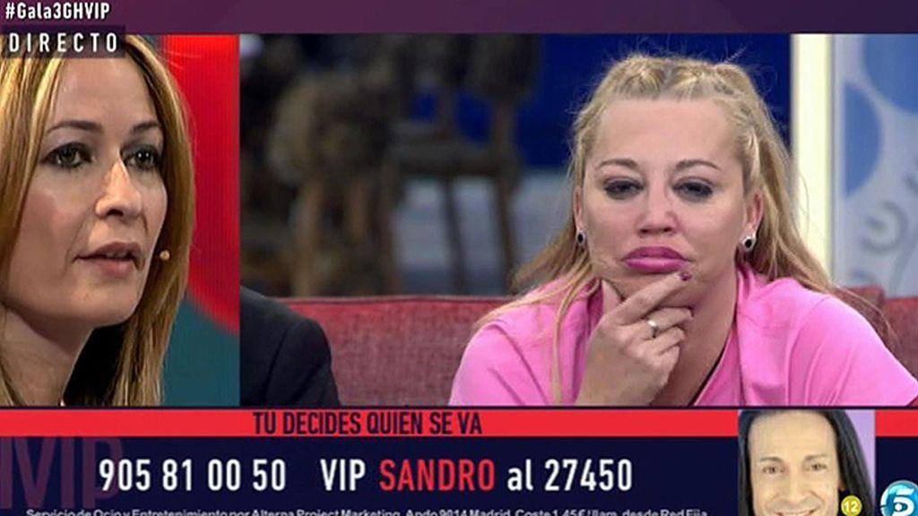 """Belén Esteban, a Olvido Hormigos: """"Como me alegro de verte ahí"""""""