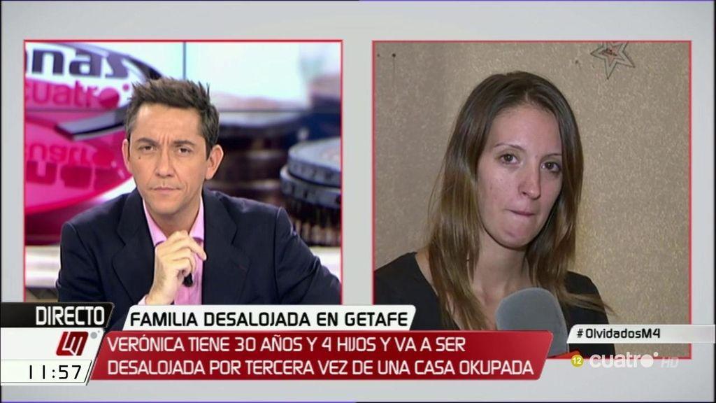 """Verónica y sus cuatro hijos, desalojados: """"Tiene que haber una solución"""""""