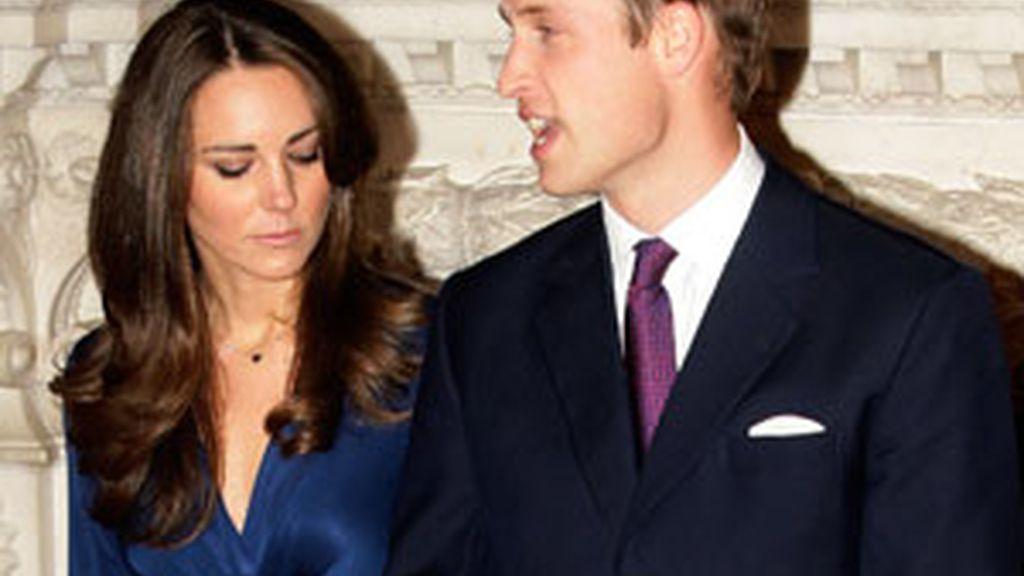 Kate y William, el día de la pedida de mano, con el anillo. Foto: Gtres