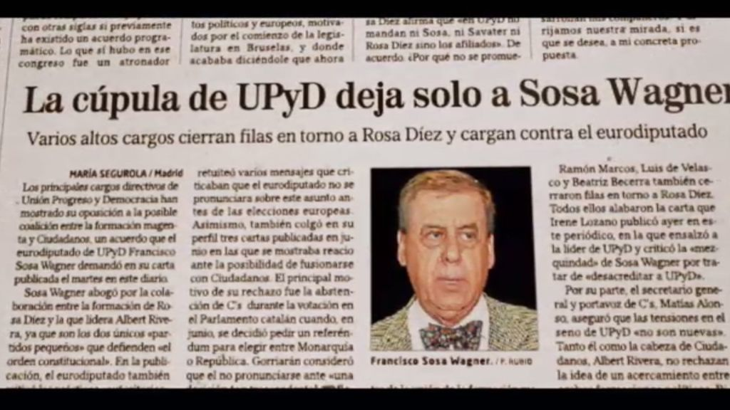 """Rosa Díez: """"Los que se marchan de UPyD criticando saben que tienen un titular"""""""