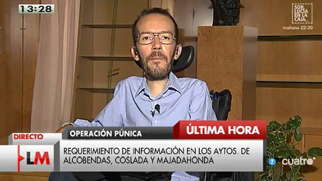 """Pablo Echenique: """"El goteo incesante de casos de corrupción es indignante"""""""