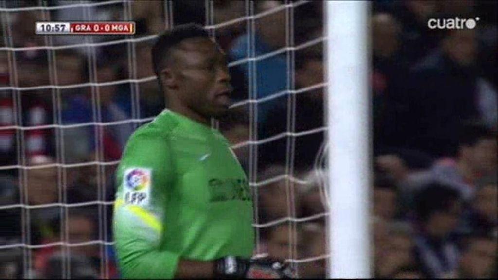 Tres paradas críticas de Kameni evitan el gol del Granada al comienzo del choque