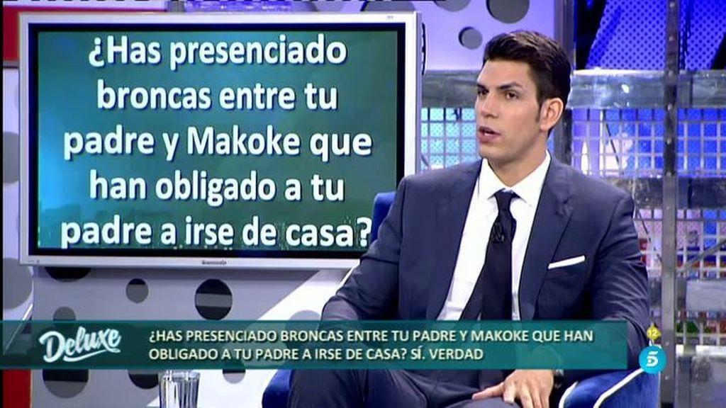 """Diego Matamoros: """"Mi padre me ha dicho alguna vez que quiere separarse de Makoke"""""""