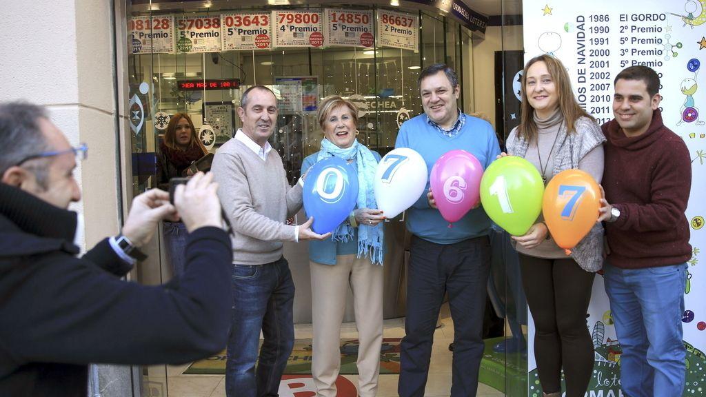 Una administración de Bilbao vende 450 décimos del 7.617