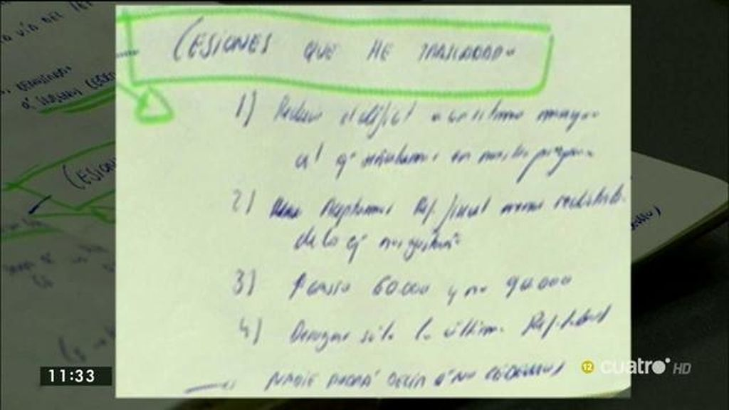 Las notas de Pablo Iglesias y Pedro Sánchez