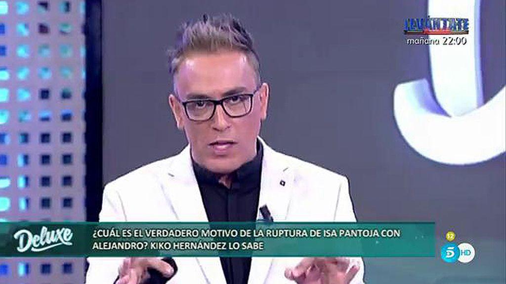 Kiko Hernández desvela el motivo de la ruptura entre Isa Pantoja y Alejandro Albalá