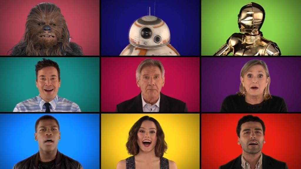 Los actores de 'Star Wars' cantan a capela la banda sonora de la saga