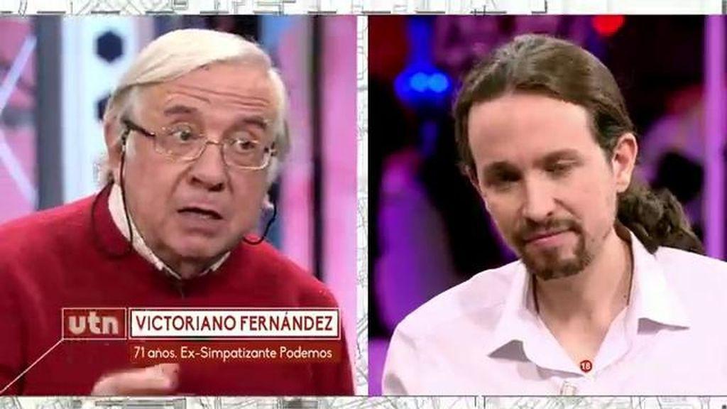 """Victoriano, ex simpatizante de Podemos, a Pablo Iglesias: """"Os parecéis a la casta"""""""