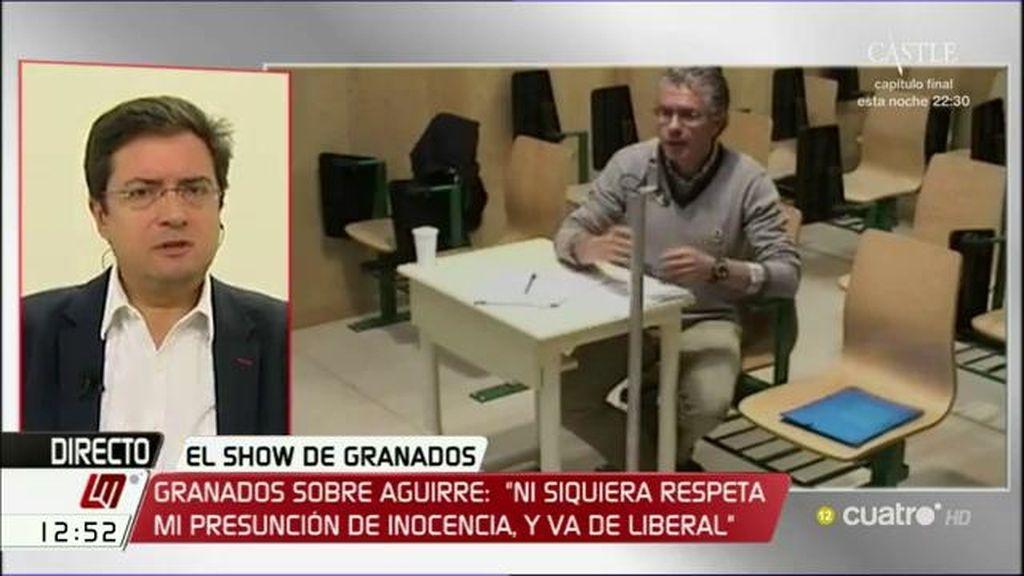 """O. López, sobre Granados: """"Esto parece la trama de una serie tipo Los Soprano"""""""