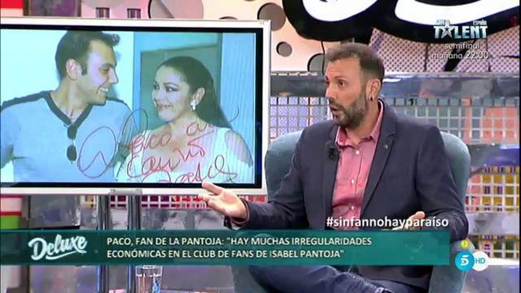 Paco desvela las presuntas irregularidades económicas del club de fans de la Pantoja