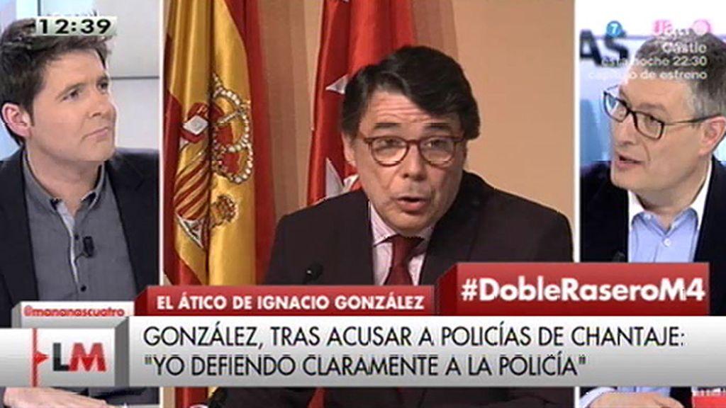 """J.M. Benito: """"Los policías no han podido chantajear a Ignacio González porque no había ninguna denuncia interpuesta"""""""