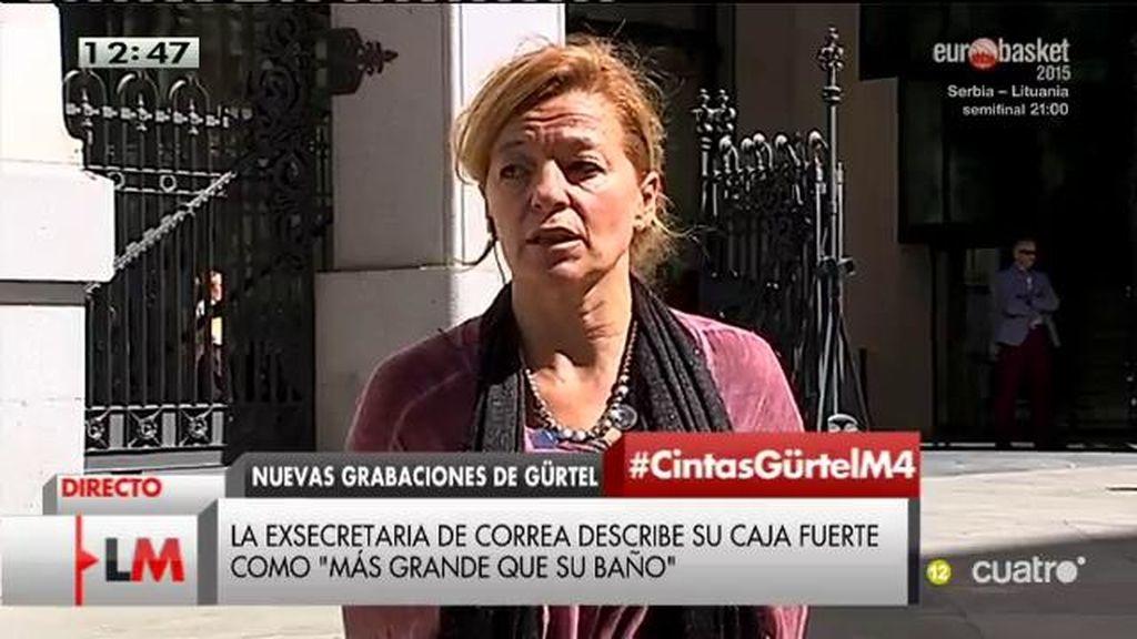 """A. Garrido: """"La exsecretaria de Correa ha tenido 'movidas' en casa y ha decidido irse"""""""