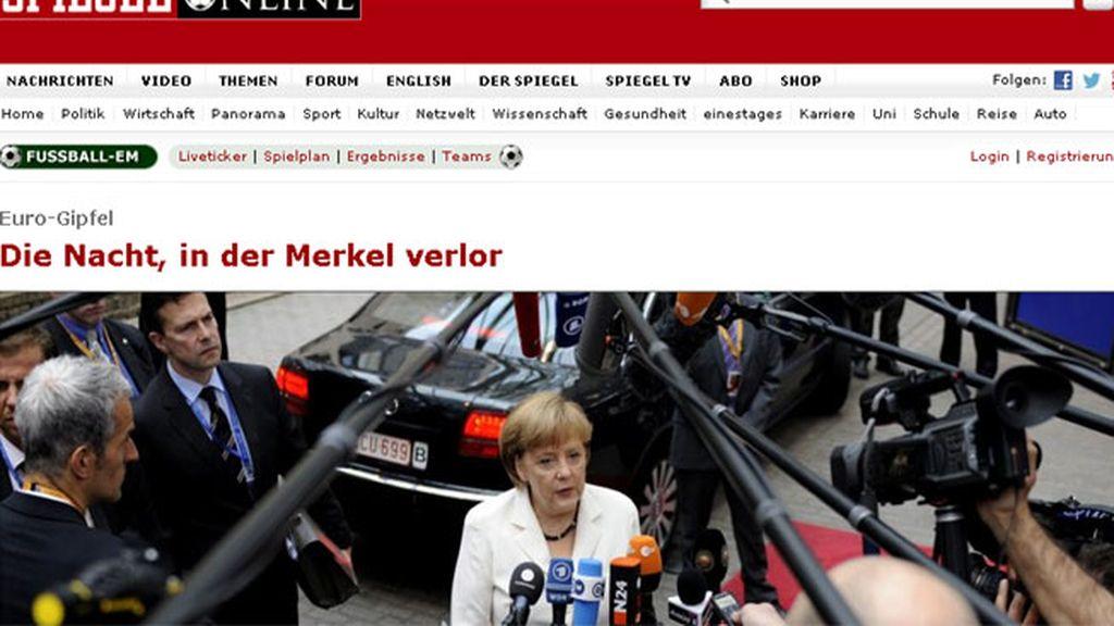 Portada Der Spiegel on line