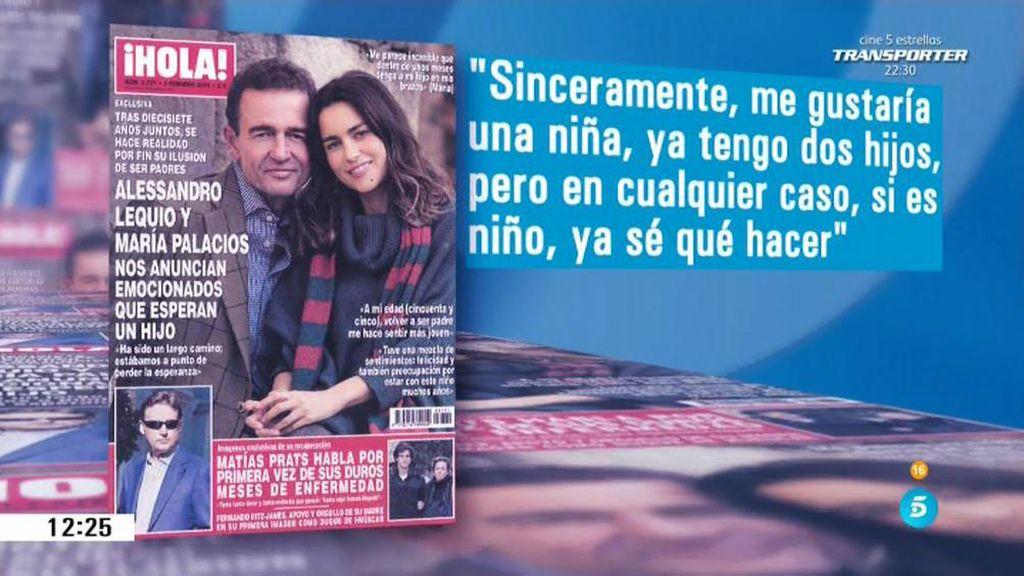 Ana Rosa será la madrina del hijo de Alessandro Lequio y María Palacios