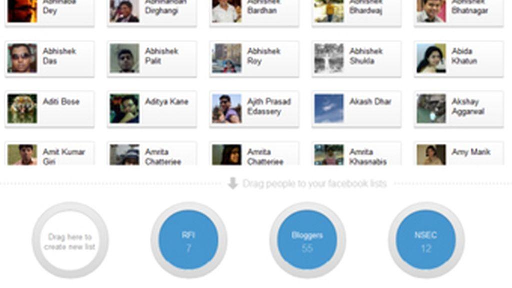 Facebook se ha dado prisa en copiar los círculos para relacionar a los amigos, ideado por los desarrolladores de Google+, la red social del buscador.