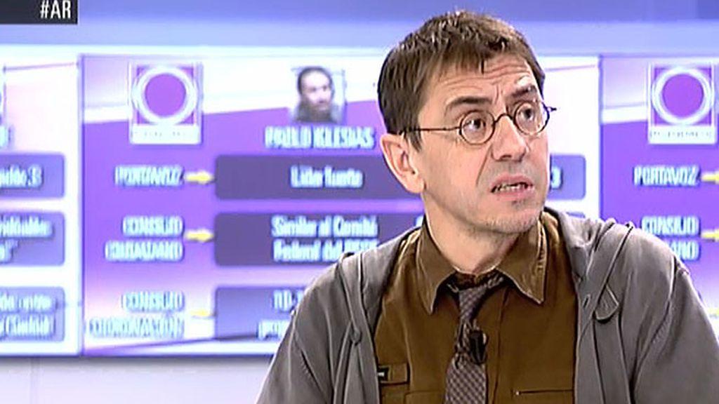 """Monedero: """"Los insultados por Aguirre han sido los votantes de Podemos"""""""