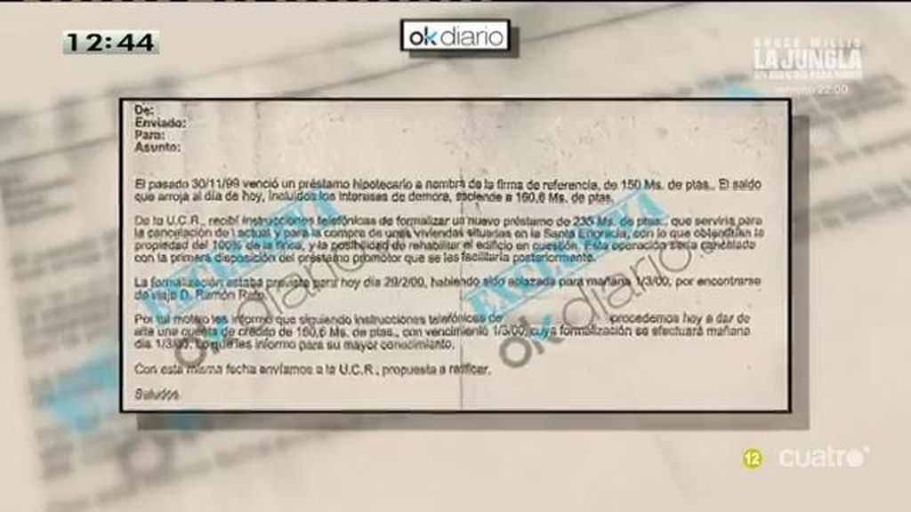 Francisco González dio 1.400.000€ al ministro Rato para cancelar un impago al propio BBVA, según OKdiario