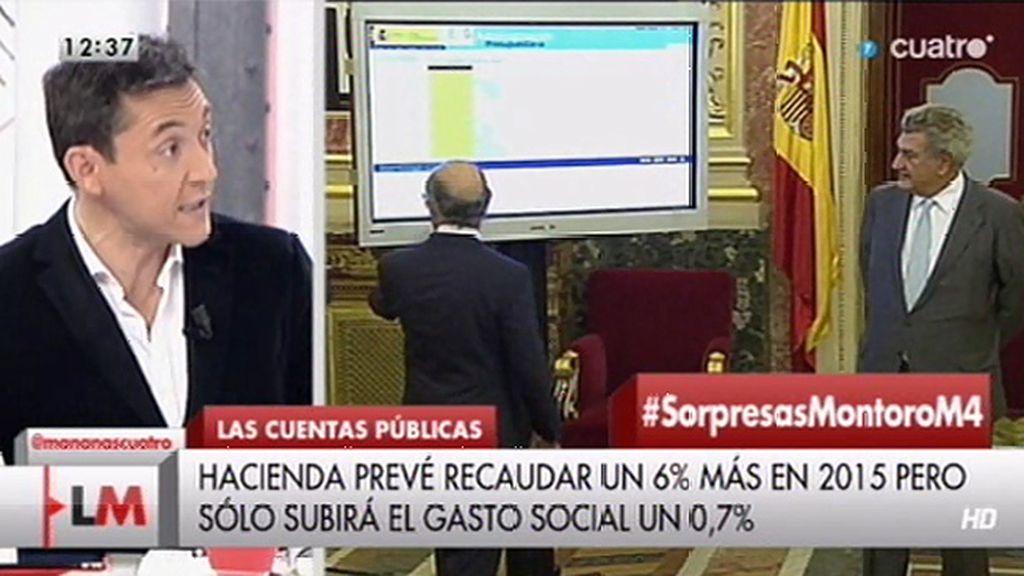 """J. Ruiz, sobre los presupuestos para 2015: """"El gasto social realmente no aumenta"""""""