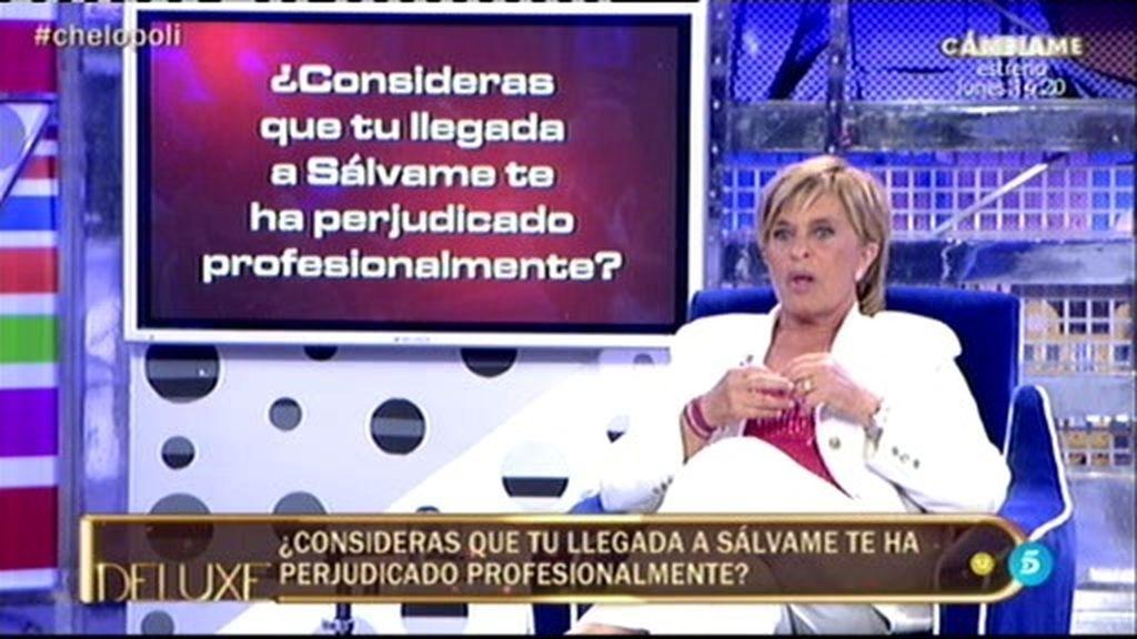 Chelo García duda sobre si su llegada a 'Sálvame' le ha perjudicado profesionalmente