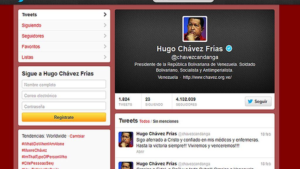 El último tuit de Hugo Chávez