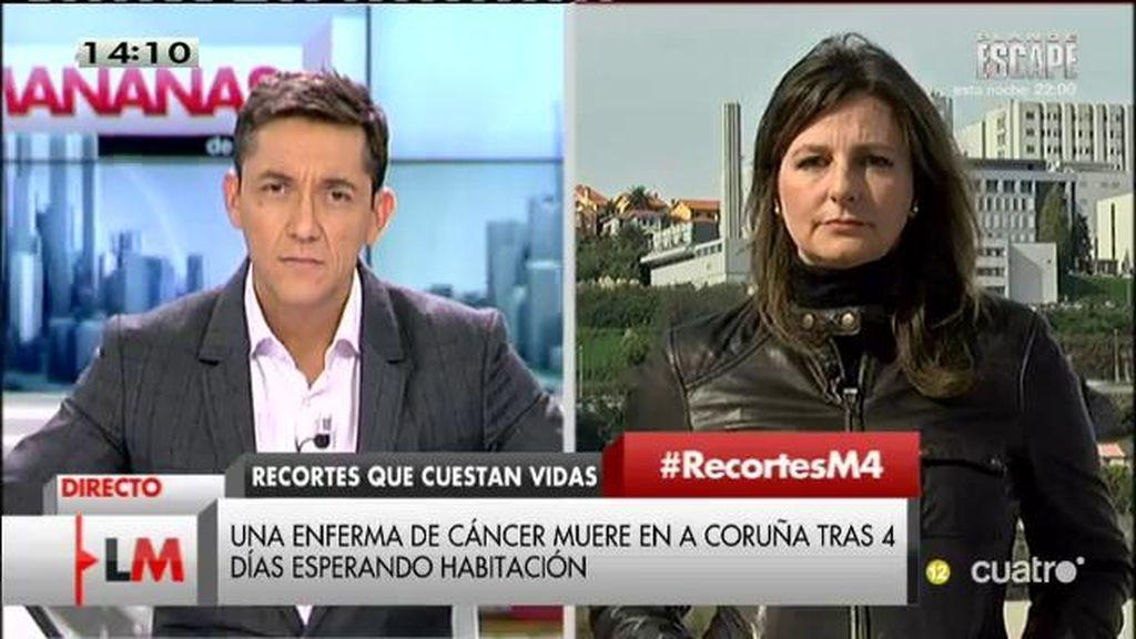 Una enferma de cáncer muere en A Coruña tras 4 días esperando habitación