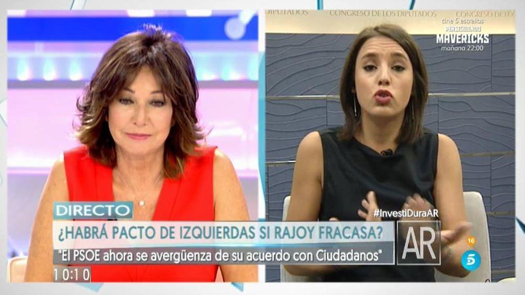 """Irene Montero: """"El rey de la corrupción nos vuelve a pedir ser presidente"""""""