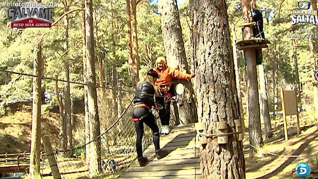 Carmen Bazán continúa entrenando, esta vez con deportes de aventura
