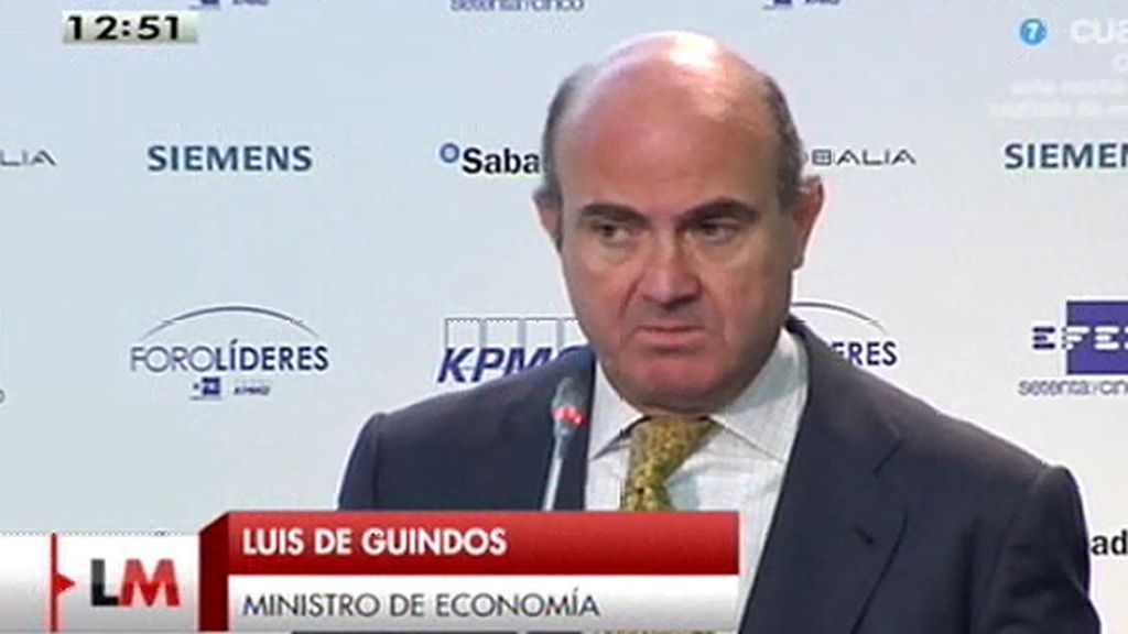 """Guindos: """"Se han puesto las bases para cinco años buenos de la economía española"""""""