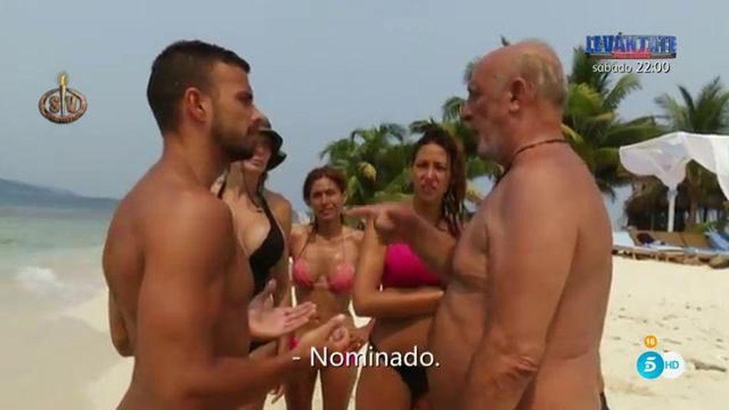 """El Dioni la toma con Cristian por intentar hacer fuego con 'sus' cerillas: """"¡Nominado!"""""""