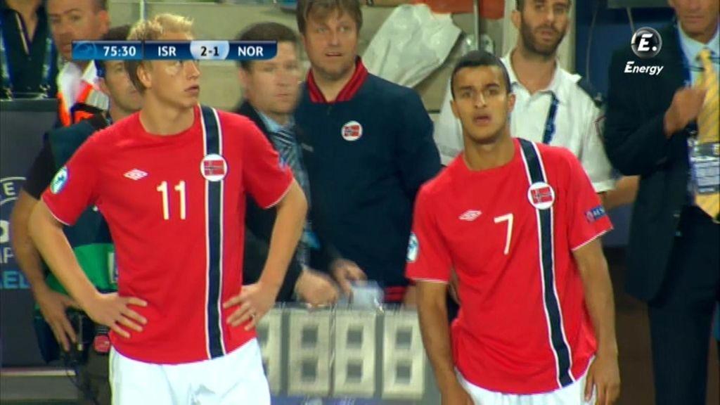 Noruega intentó reaccionar con dos cambios en la segunda parte.