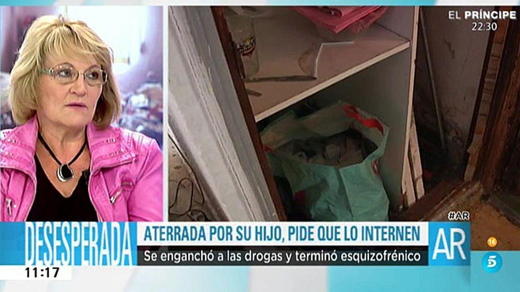 """Maite: """"Vengo a la tele porque mi hijo me va a matar si las autoridades no hacen nada"""""""