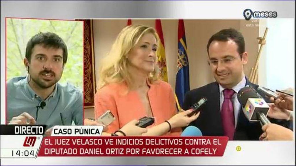 """Ramón Espinar: """"Es indisociable el PP de Cifuentes del de Aguirre porque hay una continuidad"""""""