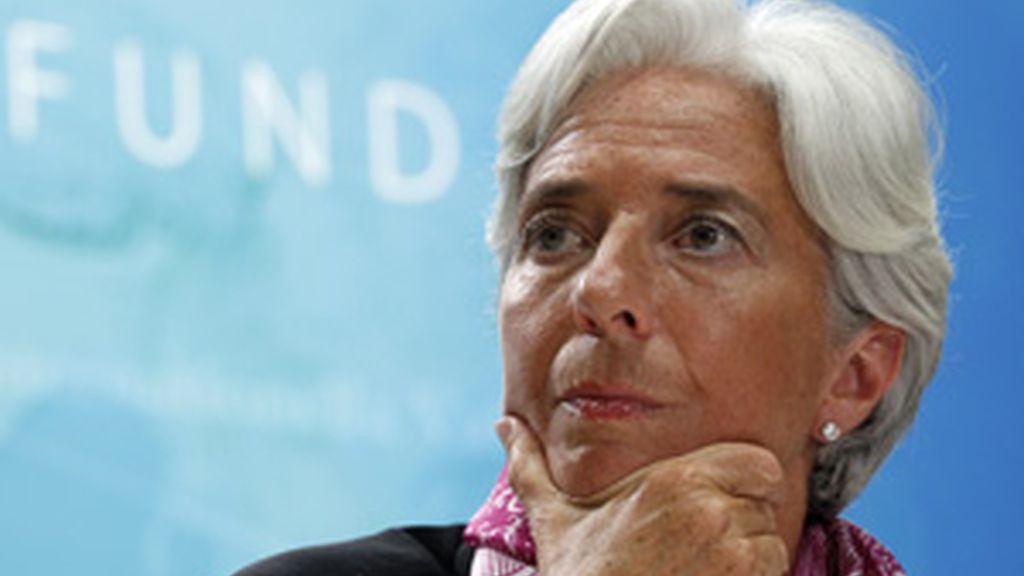 La directora del FMI Christine Lagarde hoy en Washington FOTO: REUTERS