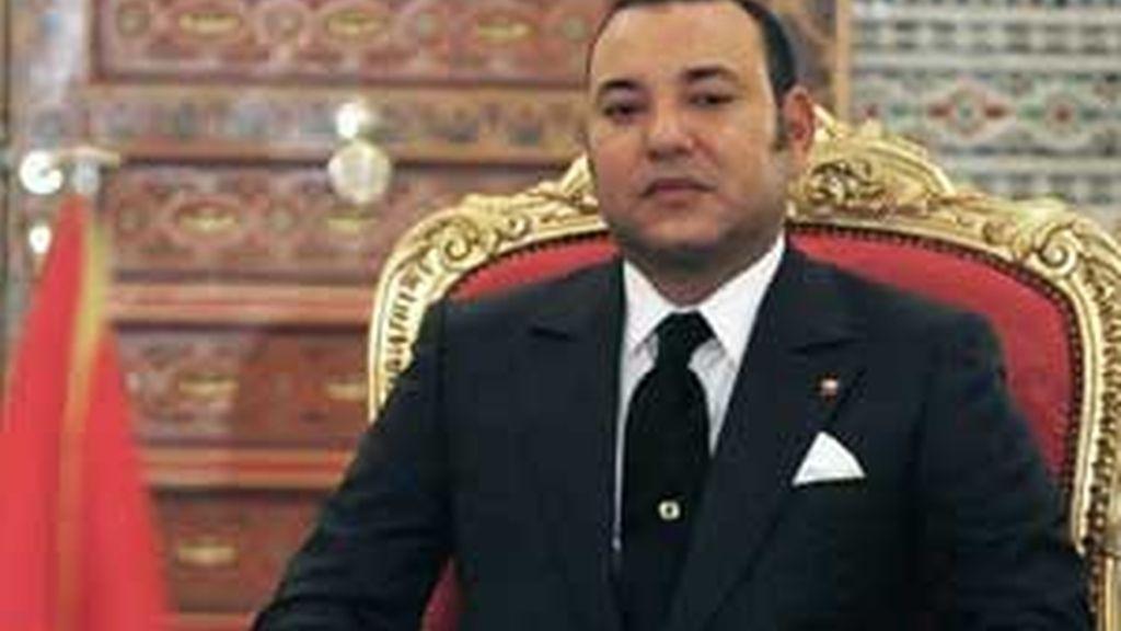 El rey de Marruecos, Mohamed VI, en el Palacio Real. Foto: Reuters