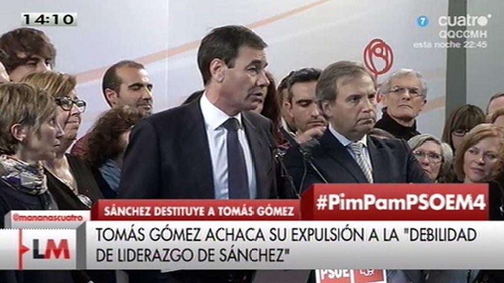 """Tomás Gómez: """"No sé si algún secretario general ha hecho tanto daño a este partido"""""""
