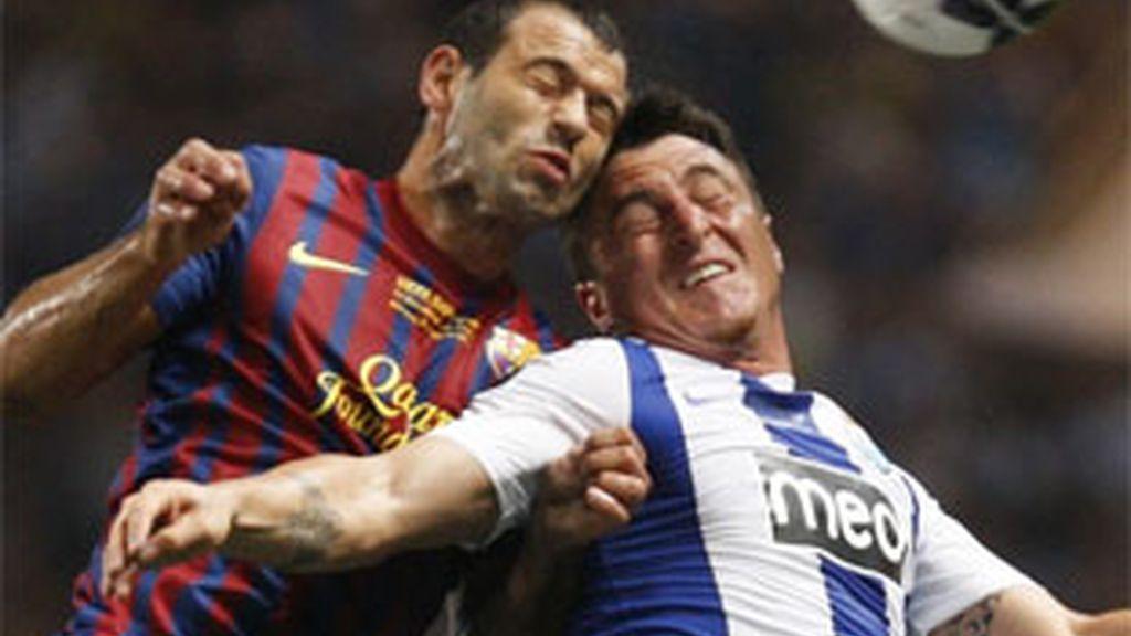 El centrocampista argentino del FC Barcelona, exultante tras lograr la Supercopa de Europa. Foto: Reuters