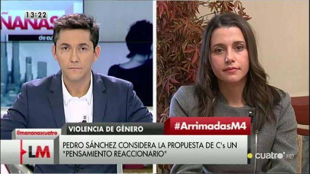 """Inés Arrimadas: """"No voy a permitir que Pedro Sánchez nos dé lecciones de nada"""""""
