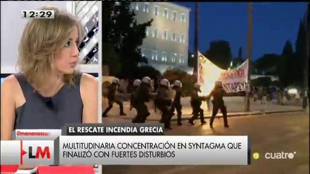 """Tania Sánchez, sobre Grecia: """"El problema político está en Europa, no lo tiene Grecia"""""""