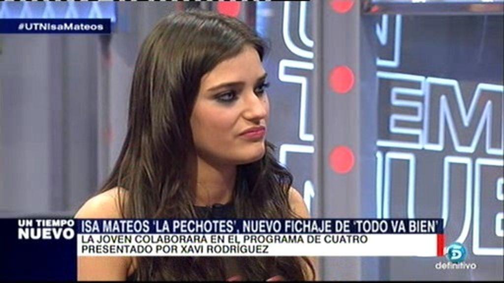 """Isabel: """"Me han ofrecido ser presentadora, pero quiero empezar desde abajo"""""""