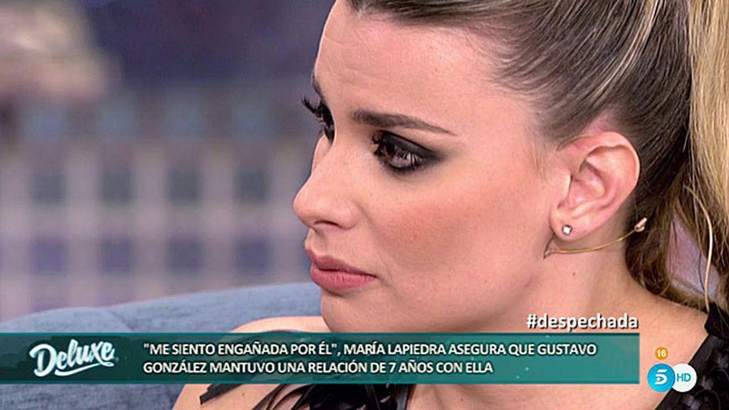 """María Lapiedra se confiesa: """"Gustavo González es el amor de mi vida"""""""