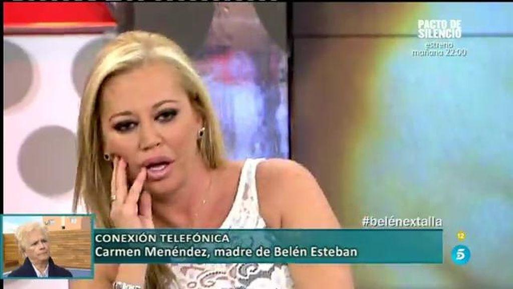 La madre de Belén Esteban entra en directo en el Deluxe a defender a su hija