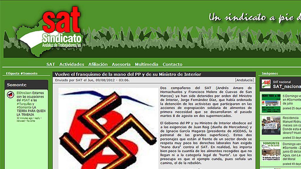 El PP estudia acciones legales contra el SAT por mezclar su logo con la esvástica nazi