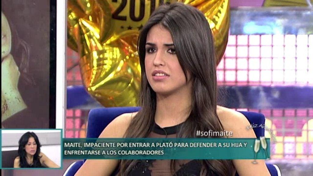 """Sofía: """"Reconozco que he sido un poco 'acosadora' con Suso"""""""