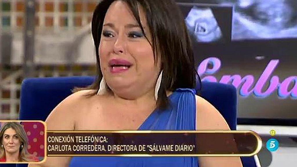 "Carlota Corredera, a Chiqui: ""No tengas miedo, disfruta de tu embarazo"""
