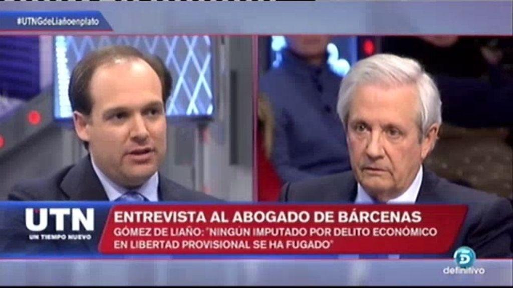 """Gómez de Liaño: """"Ha habido seguimientos del CNI hacia Bárcenas y su equipo jurídico"""""""