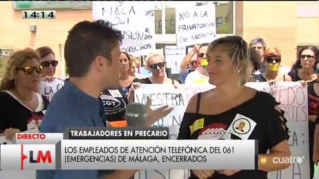 Los empleados de atención telefónica 061 (Emergencias) de Málaga, encerrados