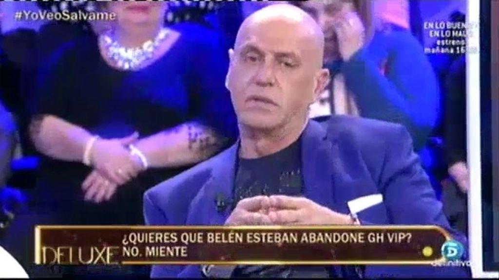 """Kiko Matamoros: """"Me gustaría que Belén Esteban abandonase 'GH VIP"""""""